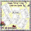 Happy Father's Day Color Me Cards (print