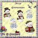 Jolly Snowman - clipart -- F2BS