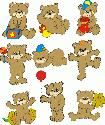CLIPART! Happy Bears @ Diddybag!