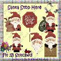 Santa Stop Here (clipart) - F2BS