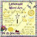 F2BS - Lemonade Wordart (clipart)