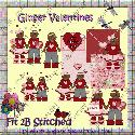 Ginger Valentines.(clipart) F2BS