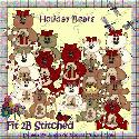 Holiday Bears - clipart - F2BS
