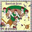 Baseball Boys  (clipart) F2BS