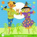 MyGrafico Harvest, Fall Scarecrow couple clipart