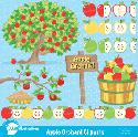 MyGrafico Apple Orchard Clipart