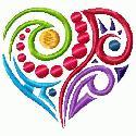 Thread Treasures: Abstract Heart