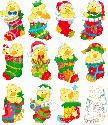 CLIPART! Christmas Stocking Duckies @ Diddybag!