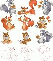CLIPART! Autumn Squirrels @ Diddybag!