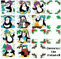 CLIPART!  Penguins in the Snow @ Diddybag!