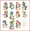 CLIPART! Little Penguins in the Snow @ Diddybag!