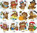 CLIPART! Calendar Owls @ Diddybag!