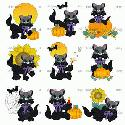 CLIPART! Fall Cats @ Diddybag!