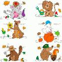 CLIPART! Fall Fun Animals @ Diddybag!
