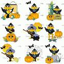 CLIPART! Halloween Crows @ Diddybag!