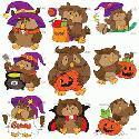 CLIPART! Little Halloween Owls @ Diddybag!