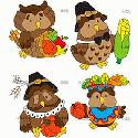 CLIPART! Thanksgiving Owls @ Diddybag!
