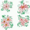 CLIPART! Poinsettia Blocks & Motifs @ Diddybag!