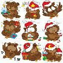 CLIPART! Happy Christmas Owls @ Diddybag!