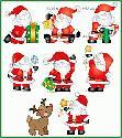 CLIPART! Happy Little Santas @ Diddybag!