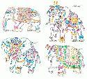 CLIPART! Decorative Elephants @ Diddybag!