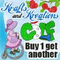 Buy One, Get One at Krafts & Kreations