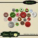 MyGrafico Christmas Buttons Digital Clipart