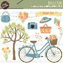 Mygrafico - Spring Bicycle Ride Clip art