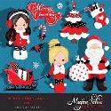 MyGrafico Merry Christmas Clipart Girls 2