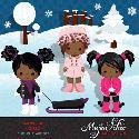 MyGrafico Snow Day African American Girls