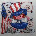 Stitched Impressions - Patrotic Swirls