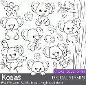 Mygrafico - Koalas Digital Stamps Clip Art