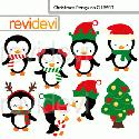 MyGrafico Christmas Penguins Cliparts
