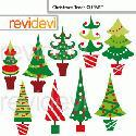 MyGrafico Christmas Trees Cliparts