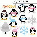 MyGrafico Penguin Family Clipart