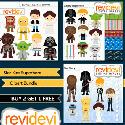 Mygrafico - Star Kids Superhero Bundle Clip Art