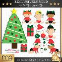 MyGrafico Christmas Baby Girl Clipart
