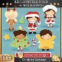 MyGrafico Christmas Costumes Digital Clipart