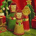 3 sizes 3-D Carolers @ Digidoodles
