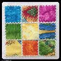 Nine Patch Applique Quilt Block 4 sizes - F2BS